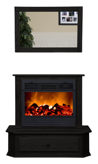 Amish Fireplace By Heat Surge Roll N Glow Wood Pellet