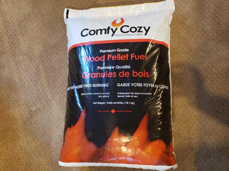 comfy cozy wood pellets