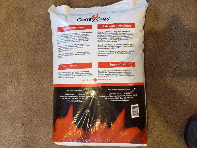 comfy cozy wood pellets